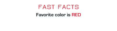 Fact: Favorite color is red